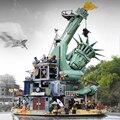 45014 película seis la estatua de la libertad bienvenidos a Apocalypseburg bloques de construcción Compatible con Legoings película 2