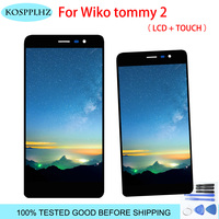 100% TESTED For Wiko Tommy 2 LCD Display and Touch Screen 5.0 Inch For Wiko Tommy 2 Mobile Phone Accessory With Tools