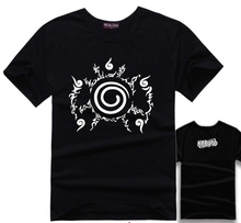 The Naruto Curse seal pattern short various colors summer T shirt Unisex
