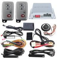 EASYGUARD PKE car alarm Rolling code remote engine start keyless go system touch password entry shock alarm warning DC12V