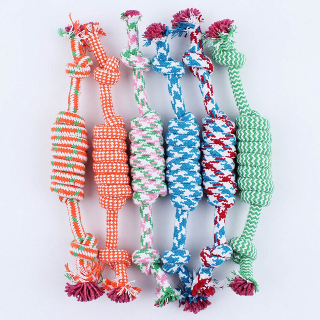 High sale Pet Toys for dog funny Chew Knot Cotton Bone