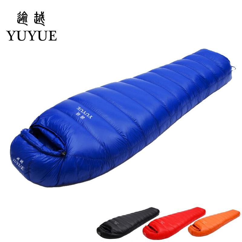 Adult waterproof Lengthened Sleeping Bag Ultralight Tearproof Mummy Camping Sleeping Bag Down For Hiking Equipment Sleep Bags 0