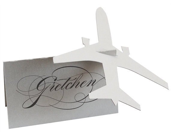 Airplane traveling Wedding Place escort Cards blank Table Number card, Baby  Bridal Shower engagement birthday party decorations-in Cards & Invitations