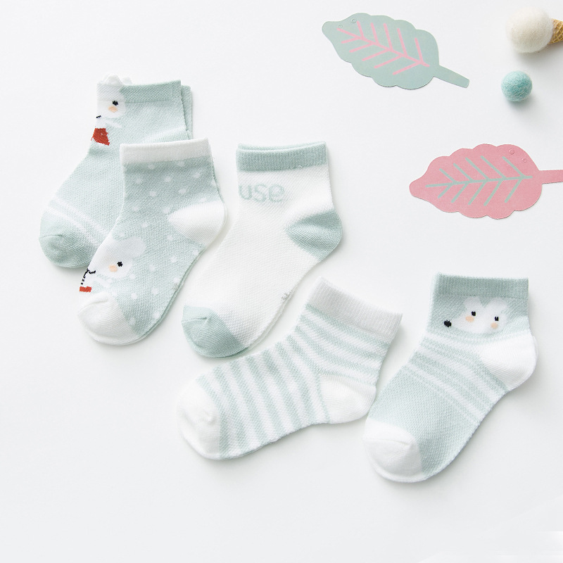 5Pairs/lot Infant Baby Socks Summer Designer Socks  Non Slip Socks  Cosas Para Bebes