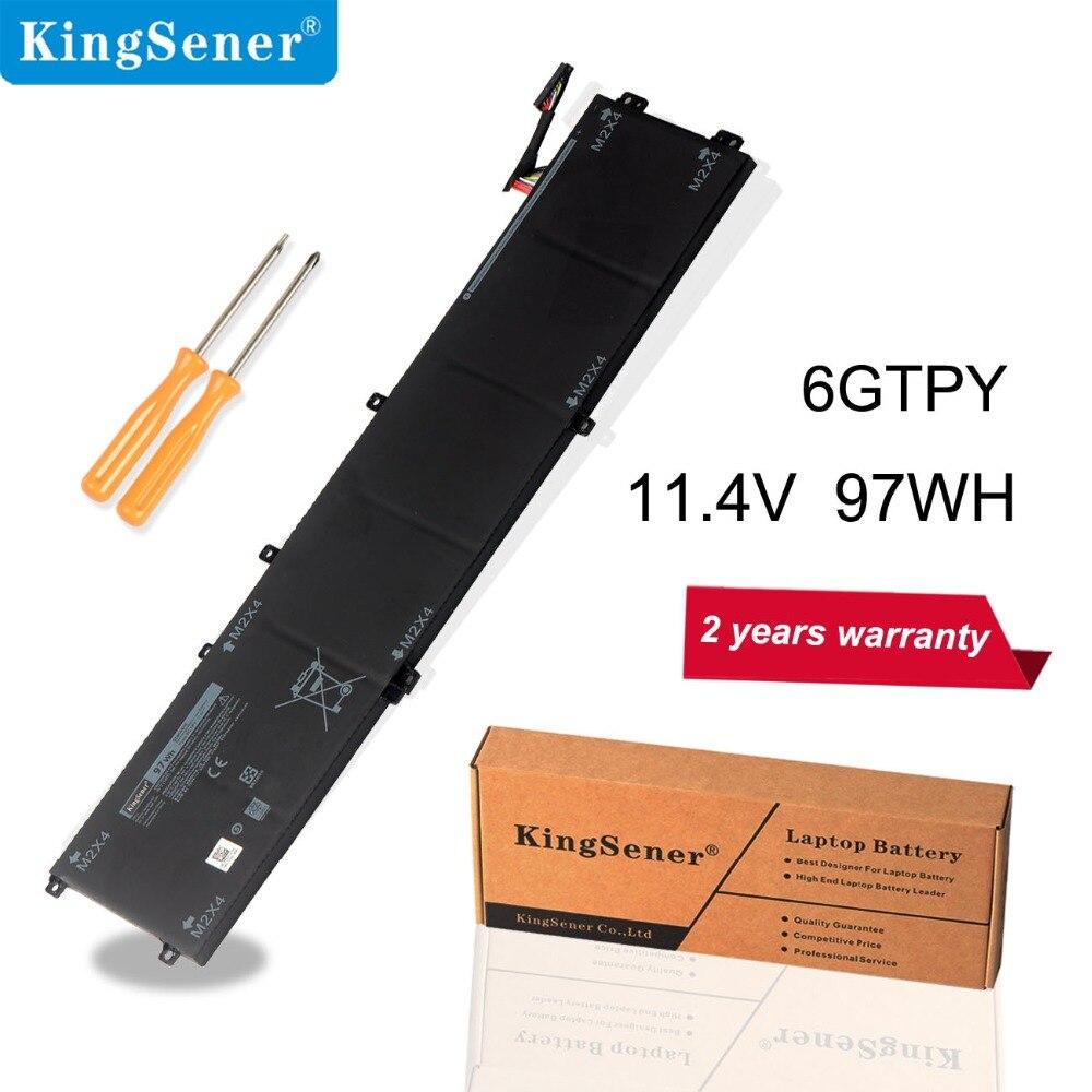 KingSener Novo 11.4 V 97WH 6 GTPY Bateria Do Portátil para DELL Precision 5520 5530 para DELL XPS 15 9570 9560 notebook série