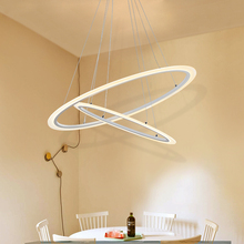 Modern Dinning Room LED Round Pendant Lighting Oval Hanging Lamp Luxury acrylic Kitchen led indoor lamp 90~260v