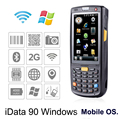 Free Shipping iData 90 IP65 Industrial Handheld PDA with 1D,2D Laser Barcode Scanner Windows Mobile 6.5 OS POS Data Terminal