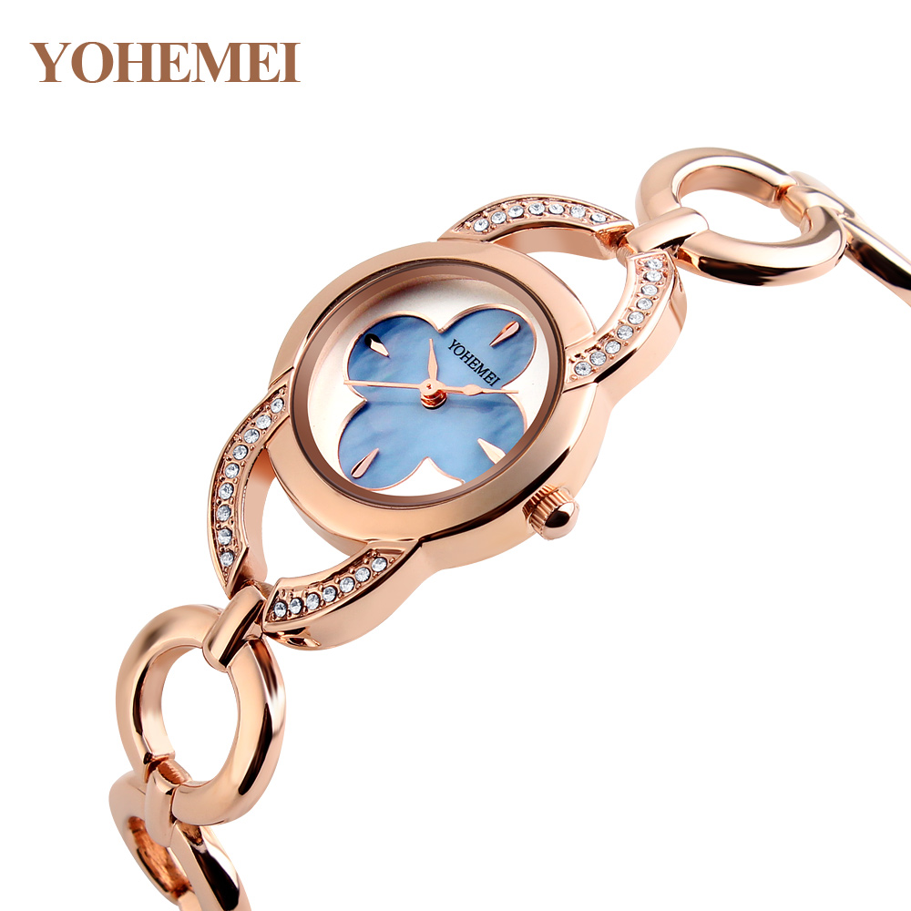 YOHEMEI Brand Women Bracelet Watch Alloy Strap Casual Ladies Dress woman Clock Waterproof Quartz Watch Relogios