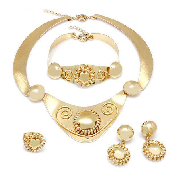 2014 18k gold jewelry half set Pakistani bridal dubai gold jewelry