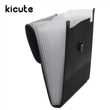 Kicute Plastic Expanding File Briefcase Document Folder A4 Storage Bag Organizer Filing Rectangle Bag Office School Supply