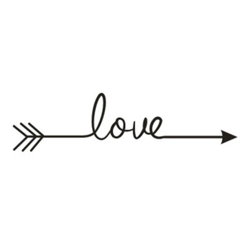 Wallpaper Sticker Love Arrow Decal Bedroom Vinyl Carving Wall Decal Sticker for Home Deco Wallpapers For Living Room 2018 B#