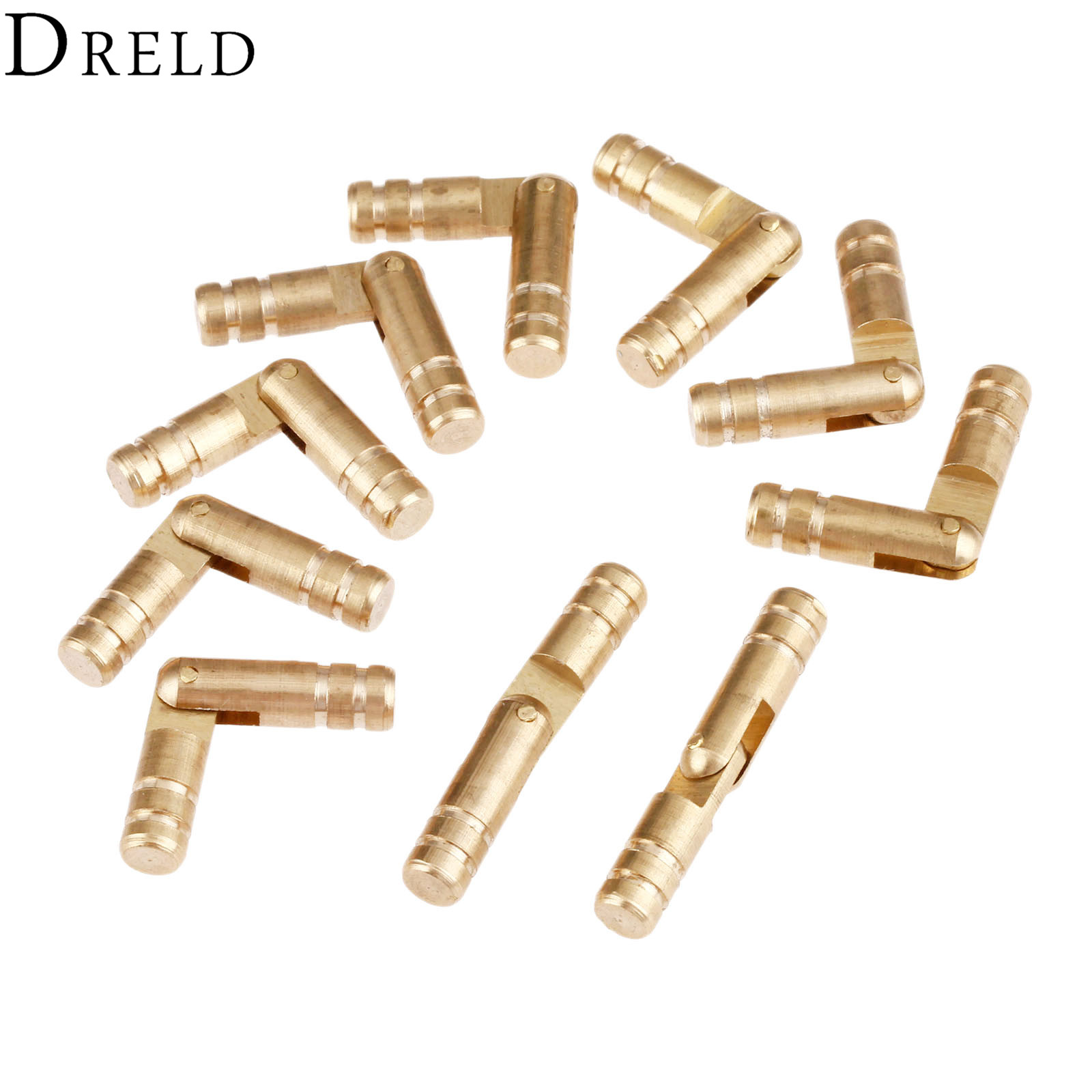 DRELD 10Pcs Pure Copper Brass Wine Jewelry Box Hidden Invisible Concealed Barrel Hinge for Furniture Finely Machined Mechanisms  10pc pure gold copper brass wine jewelry box hidden invisible concealed barrel hinge finely machined mechanisms
