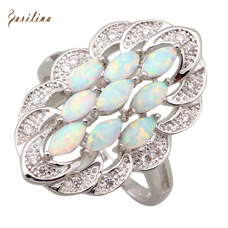 High quality Gallant Fashion Opal rings Wedding rings for women White Opal Si