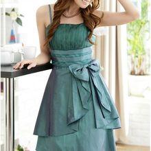 summer bow women plus size dresses bridesmaid dress