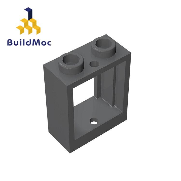 BuildMOC 60592 1x2x2 For Building Blocks Parts DIY LOGO Educational Tech Parts Toys