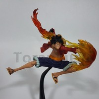 One Piece Anime Luffy Fire Fist PVC Action Figures Model Toys One Piece Luffy Zoro Sabo Figurine Toy Doll Gift