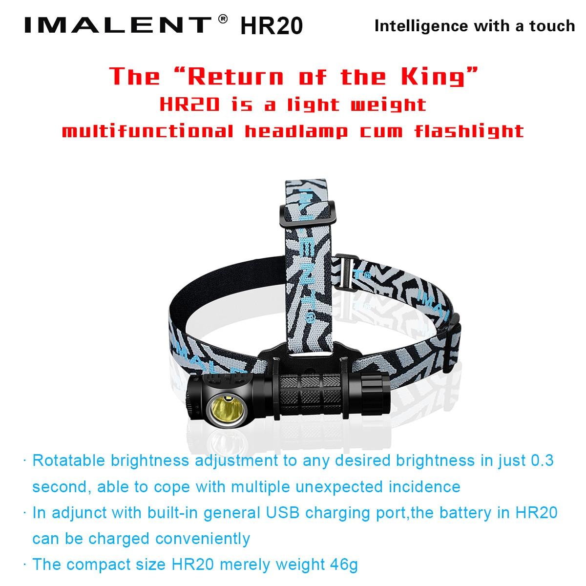 MALENT HR20 Phares LED Phares De Pêche Vélo Éclairage vélo USB Rechargeable Camping En Plein Air Lumières Mini Phares