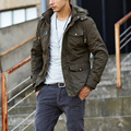 2017 Casual Brand Men's Jacket Cotton Winter Clothing Zipper Hoodie Jacket Men Overcoat Fit Plus Size 4XL New Arrival
