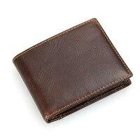 LEINASEN RFID Luxury Brand Cow Genuine Leather Men Wallets 100 Top Quality Short Male Purse Carteira