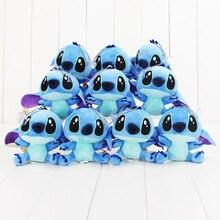 10pcs/Lot 10cm Super Cute Lilo and Stitch Plush Doll Toys Lovely Stitch Toys Keychain Pendant Plush Animals Christmas Gifts