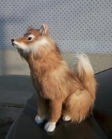 Золото моделирование fox игрушка полиэтилена и меха сидит лиса кукла подарок около 54x42 см 0698