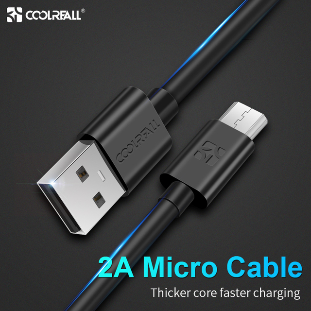 Coolreall מיקרו USB כבל 2A מהיר טעינה נייד טלפון מטען כבל 1 M תאריך כבל עבור Sumsung Xiaomi Huawei אנדרואיד tablet