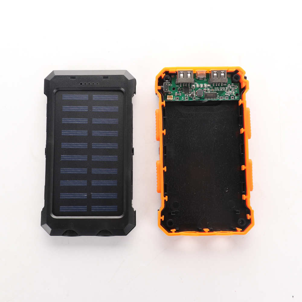 Solar Battery Power Bank Case Diy Kit Portable External Battery Charger With Camping Compass Led Light diy By Yourself Consumer Electronics