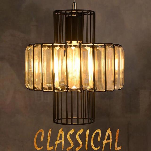 aliexpress koop industrià le retro loft kristallen hanglampen