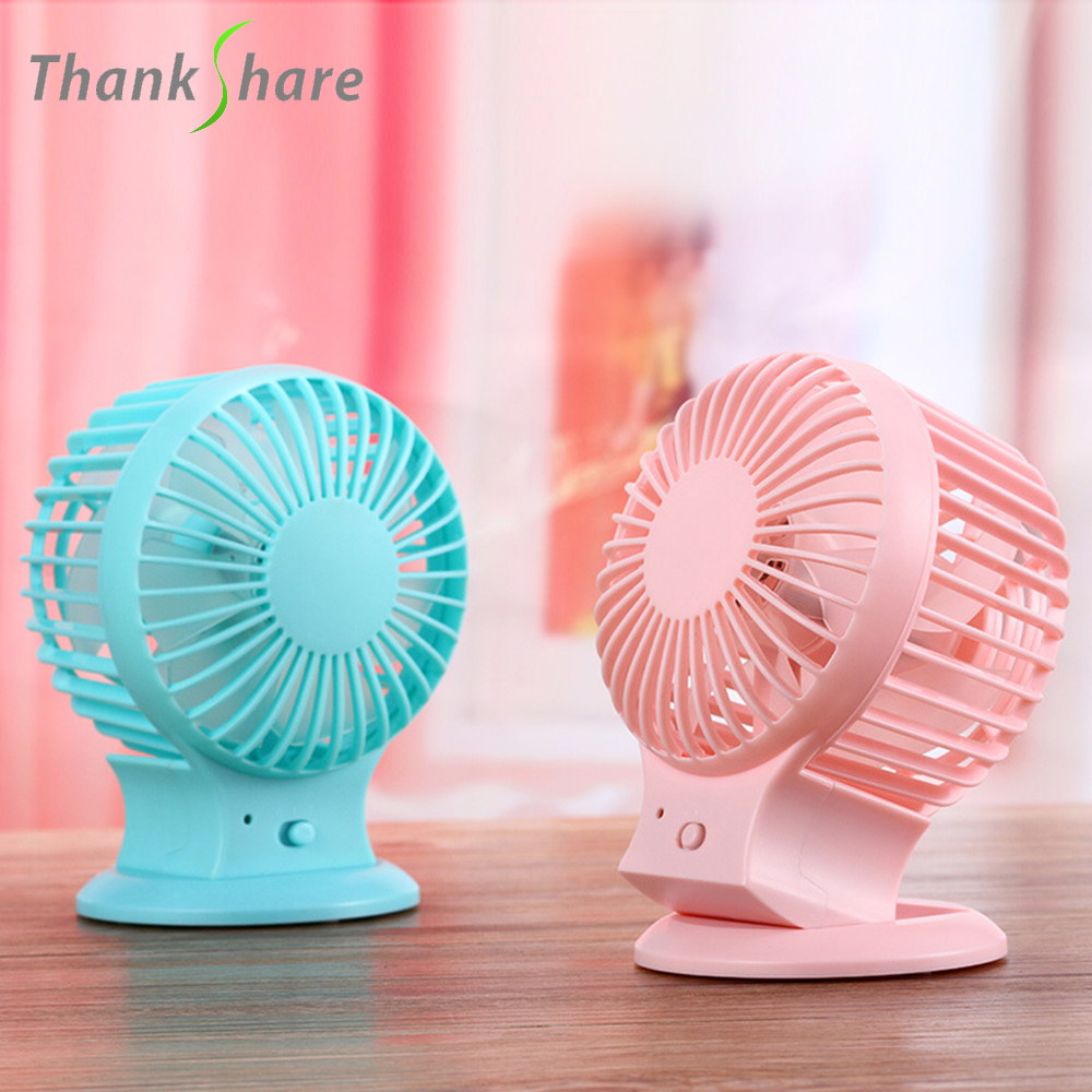 THANKSHRE New Rechargeable Pedestal Table Desk USB Fan Silent Mini Fan For Home Office Electric ABS Fans With Double Blades все цены