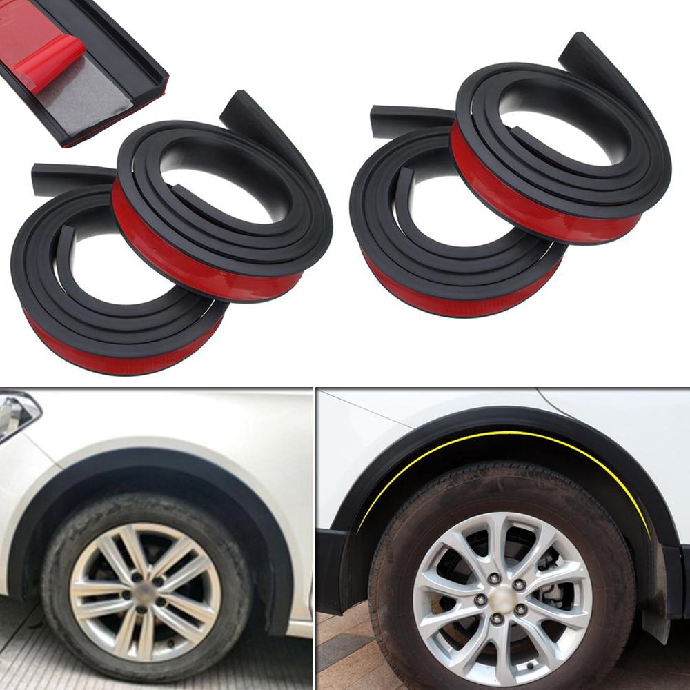 4x Car Wheel Eyebrow Arch Trim Lip Strip Fender Flare Protector Decent Universal