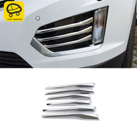 CAR MANGO Car Styling Fog Light Lamp Rain Shade Cover Trim Frame Sticker Exterior Accessories for Cadillac XT5 2016