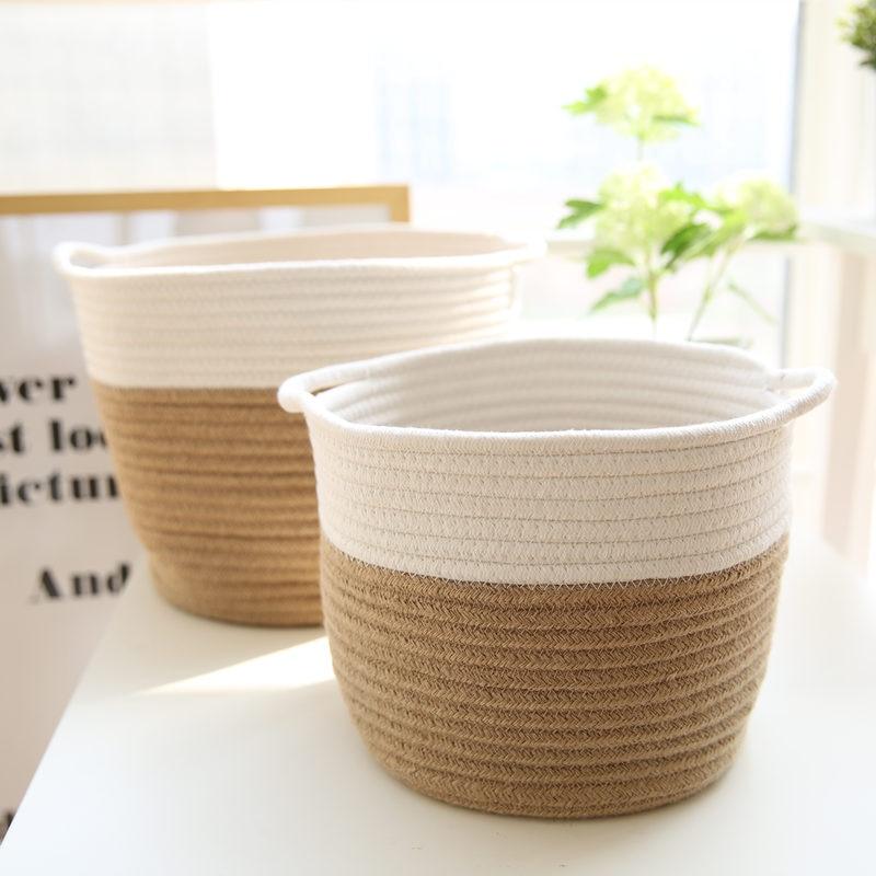 2017 New Cotton and Linen Clothes Storage Box Binaural Storage Basket Laundry Basket Sundries Organizer Toy Home Storage Box