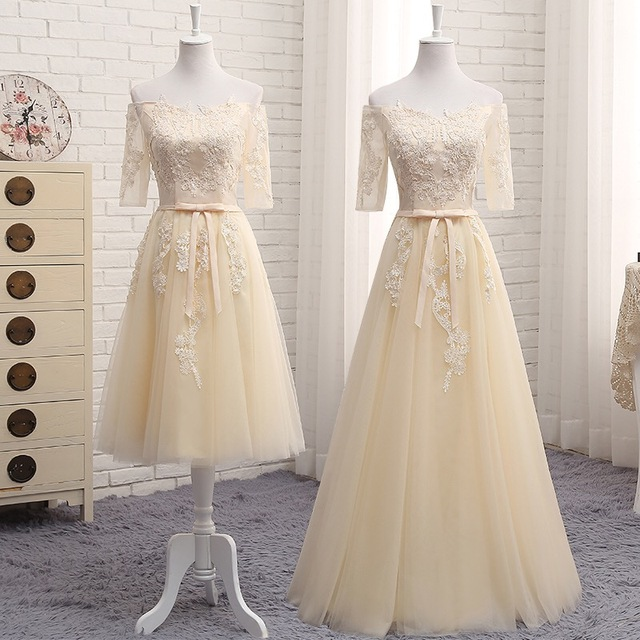 Grey with Light Yellow Bridesmaid Dresses