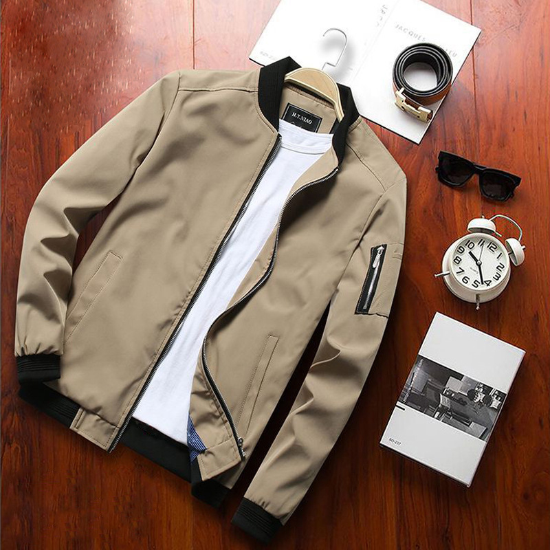British Spring Autumn Fashion Men Jacket Large Size M-6XL Baseball Uniform Korean Casual Jacket Men Coat Youth Classical Jackets