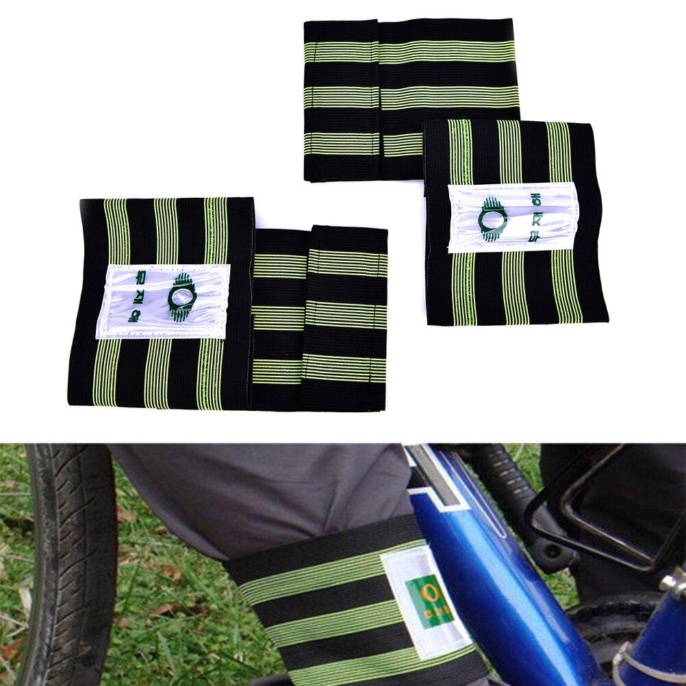 1 Pair Elastic Bicycle Bike Leg Pants Band Belt Rubber Strap Bandage Gaiter