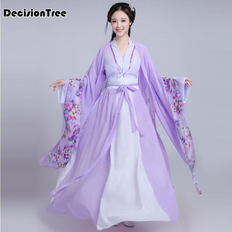 2019 Women Chinese Princess Costume Traditional Dance Costumes Kids Enfants Girl Folk Ancient Hanfu Tang Dynasty