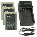 DSTE 3 UNIDS BLN-1 Batería Recargable + Cargador de Viaje y Coche Para Olympus OM-D E-M1 E-P5 E-M5 Cámara