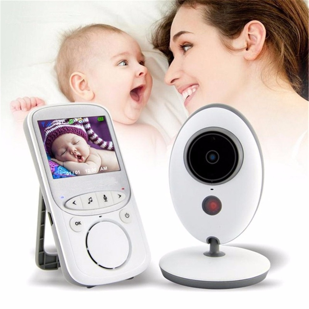 babykam baby monitor baby monitors 2.4 inch LCD IR Night Vision Intercom Temperature Monitor Lullabies baby monitor for newborns