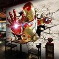 3D видео обои нетканые обои спальня большая гостиная ТЕЛЕВИЗОР фоне обои супергерой Железный Человек