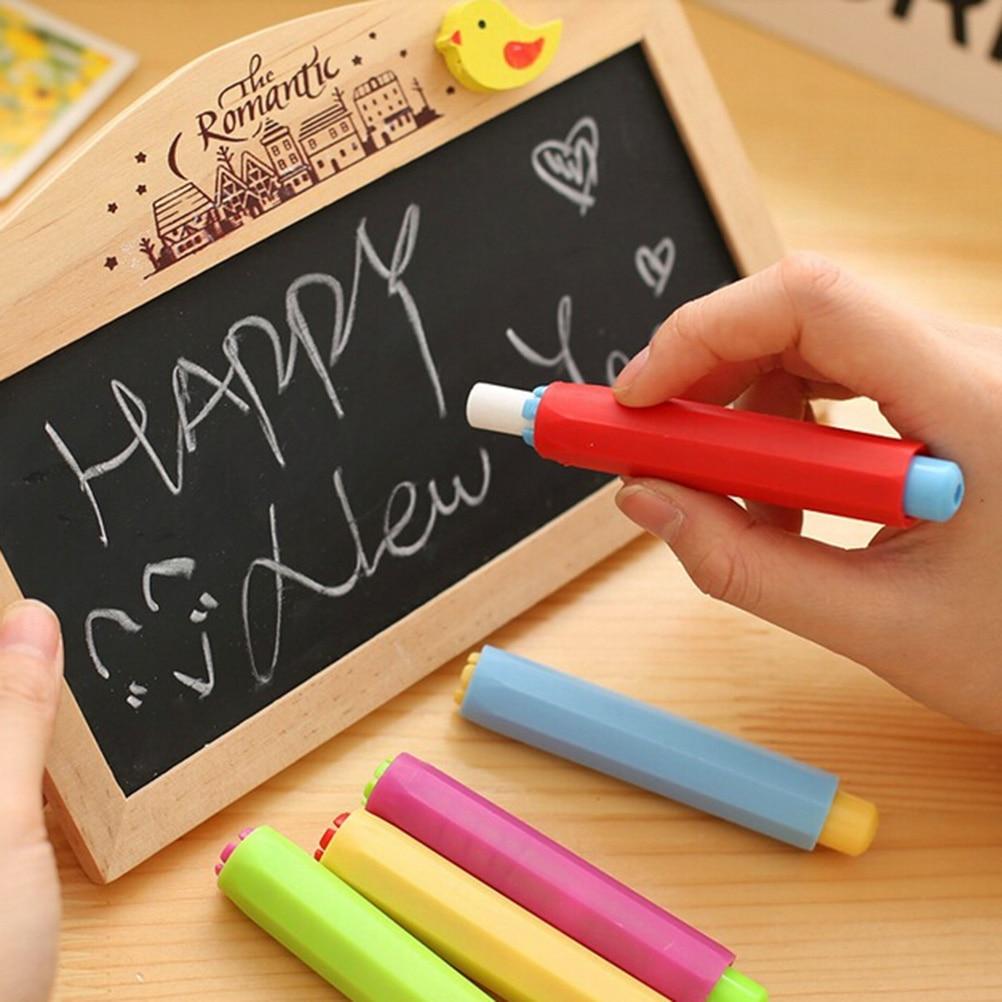 Hot Sale 1pc Magnetic Dustless Chalk Holders Holder Pen Porta Tiza Chalk Clip Non Dust Clean Teaching On Chalkboard Wall Sticker Chalk
