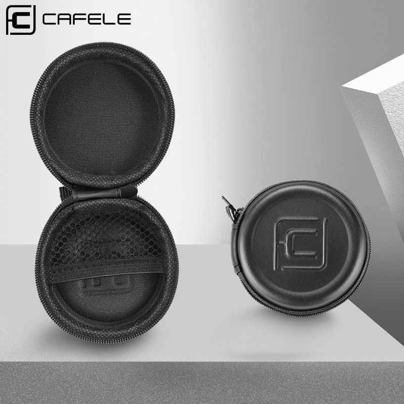CAFELE Earphone Holder Case Storage Carrying Hard Bag Box For Earphone Headphone Accessories Earbuds USB Cable ( No Earphone )