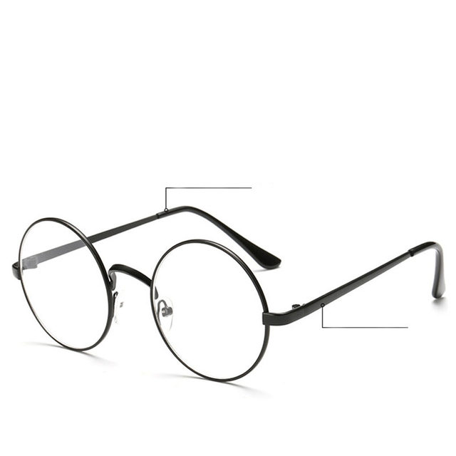 Online Shop Chic Eyeglasses Retro Big Round Metal Frame Clear Lens ...