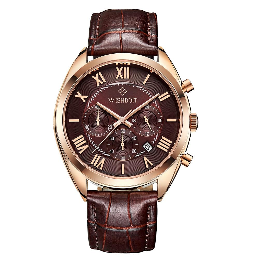 2017 WISHDOIT Top Luxury Brand Men Waterproof Business Watche Men's Quartz Date Clock Men Wrist Watch relogio masculinos rga r 981 sports watche red