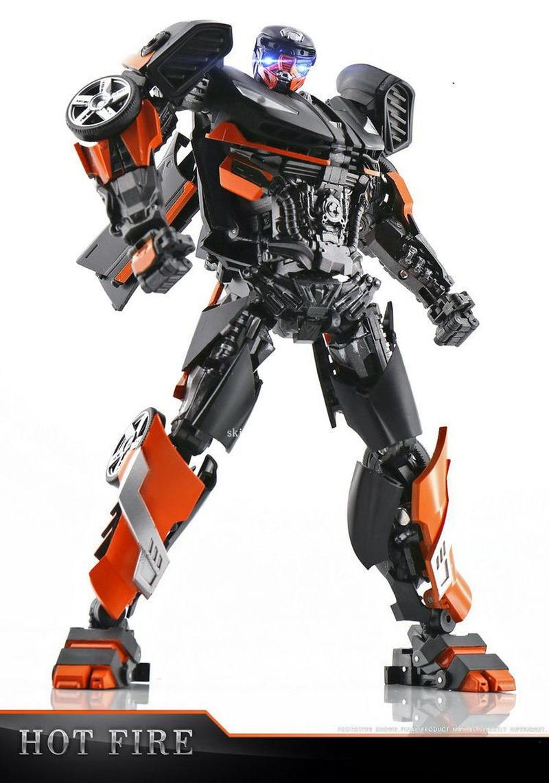 TFEVO TE-01 Transformation Hot Rod Hot Fire TE01 MPM Movie 5 The Last Knight KO Version Action Figure Robot Toys Gifts цена и фото