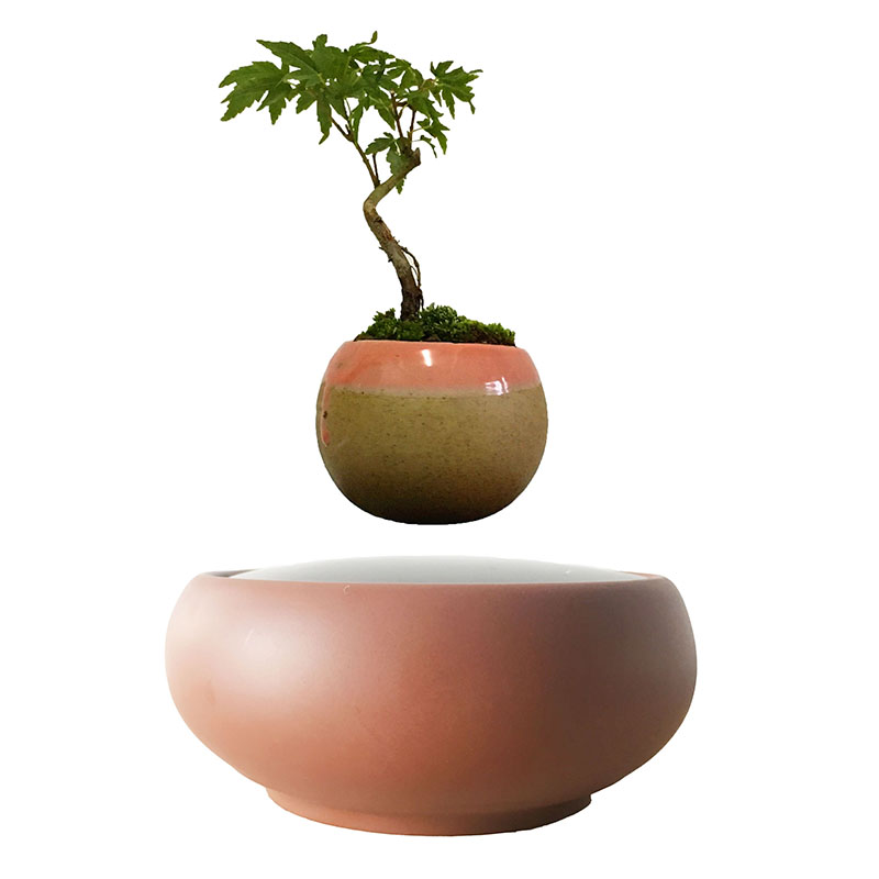 2018 Japan Magnetic Levitation Floating Plants Ceramics Pots Bonsai Pot Birthday Gifts For Men Free Shipping No Plant