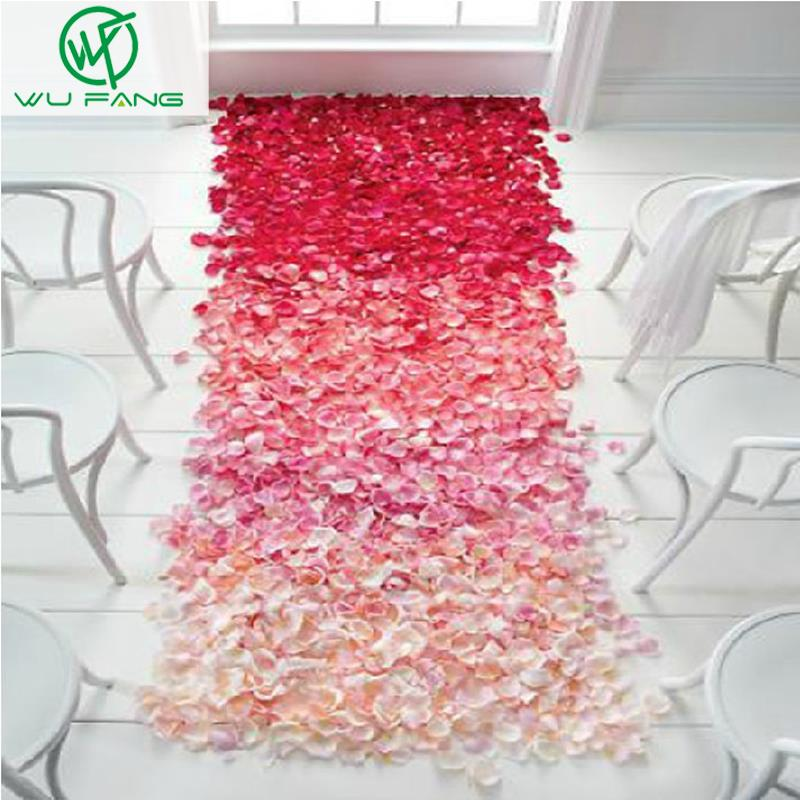 1000 Pcs Artificial Silk Rose Flower Petals Wedding Party