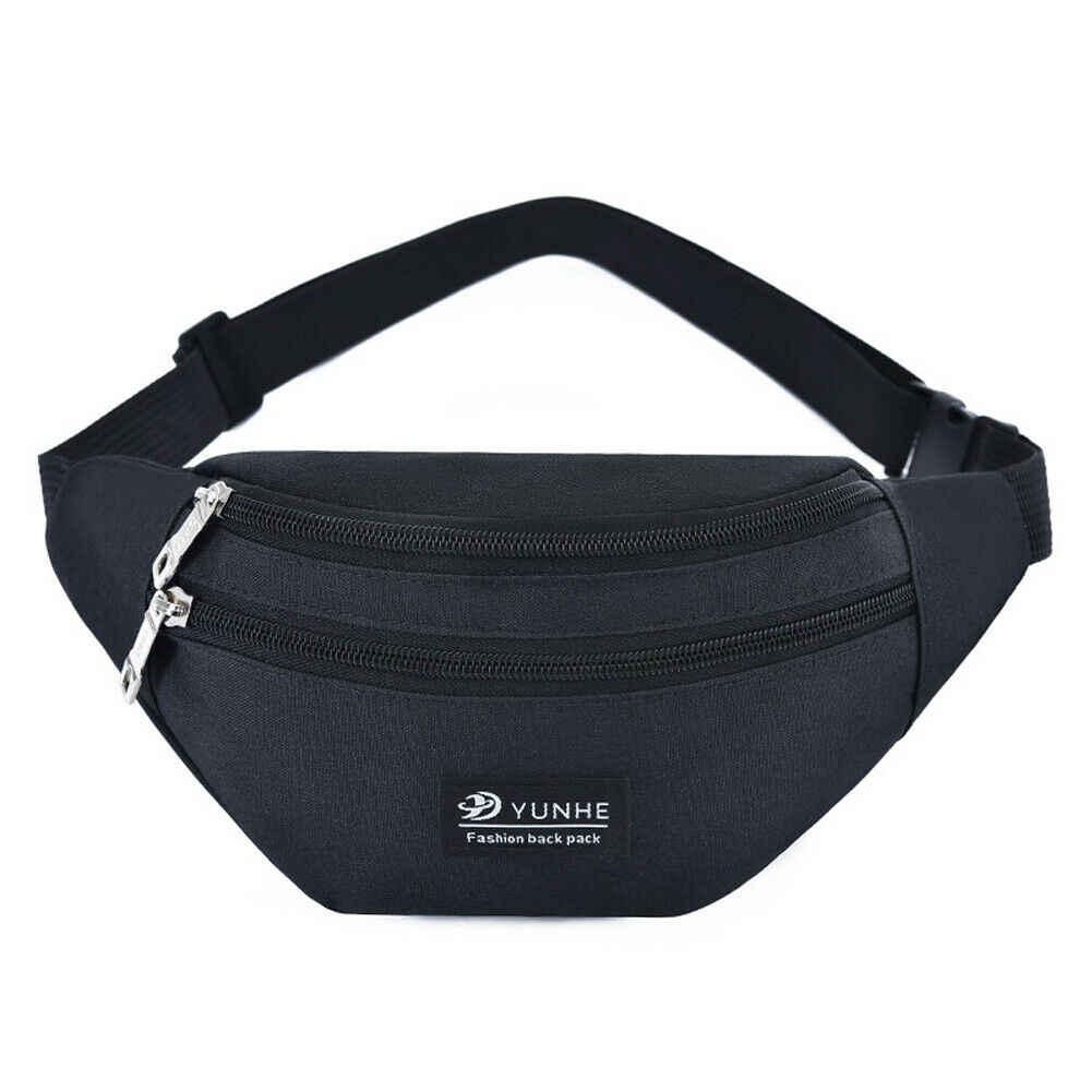 Erkekler Kadınlar Bel fanny paketi Spor Seyahat Kemer Fermuar Bel Çantası Crossbody Çanta Bayan Bel Paketi Göbek Çanta Çanta Küçük bel çantası