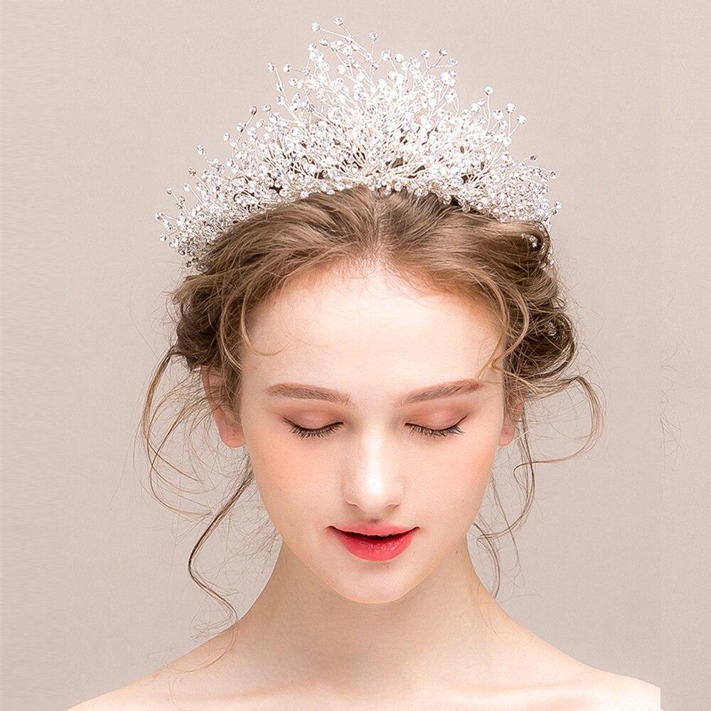 Thiago Bruid hoofdtooi Crystal Crown Wedding Hoofddeksels Refrein haar Chorusabichu Vigo-in Haarsieraden van Sieraden & accessoires op  Groep 1