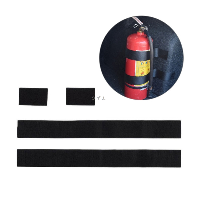 2 PCS Fire Extinguisher Car Trunk Holder Universal Strap Down Design Organizer