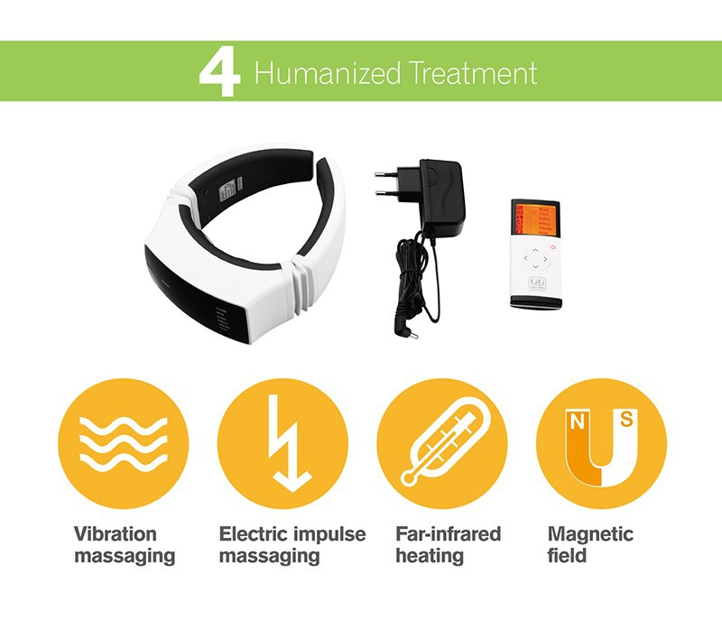 KIKI Beauty World.Wireless Remote Control Neck massager health care product Cervical therapy instrument massage tools 7